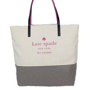 Kate Spade Signature Shopper Striped Tote
